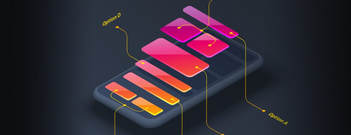 UX/UI design elements on a mobile phone
